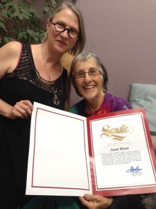 Joani Blank's State of California proclamation