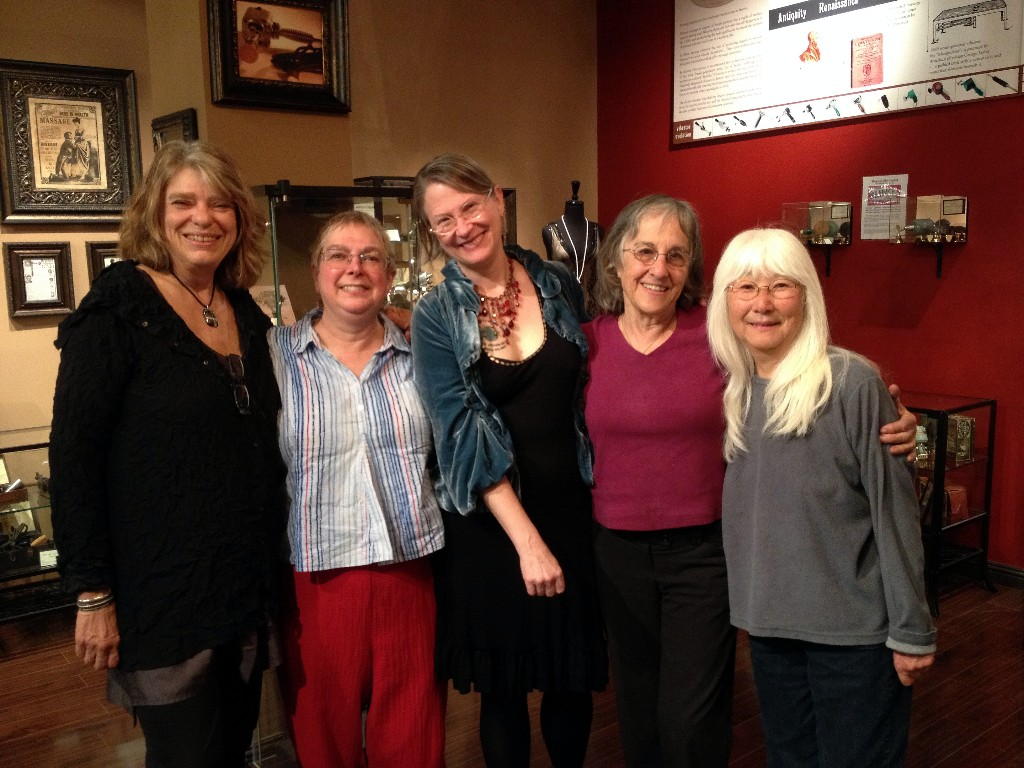 Wendy Slick, Rachel Maines, Carol Queen, Joani Blank and Emiko Omori