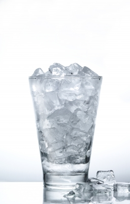 Icecube filled glass