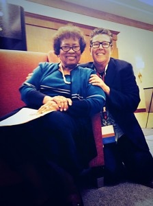 Jackie Strano and Dr. Jocelyn Elders