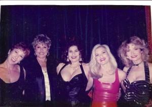 (L to R: Annie Sprinkle, Gloria Leonard, Veronica Vera, Candida Royalle, Veronica Hart). Photo courtesy Annie Sprinkle