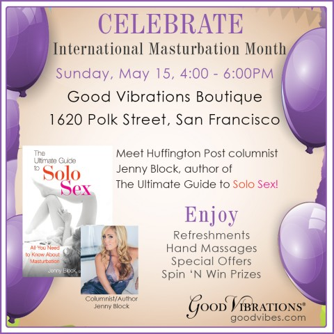 Special Jenny Block Book Launch for International Masturbation Month