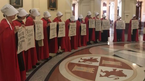 Handmaids Protest